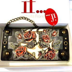Isabella Fiore Anchors & Roses Wristlet Bag